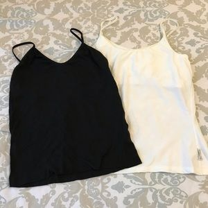 Bundle of 2 Dry Fit Camis Tanks Black & White